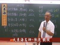 ★大東海(110、111年)→『火災學』精修→新班開課→大東海天王名師→陳達 教授!
