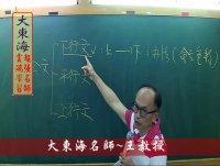★大東海(108年、109年)→『國文(公文)』精修→新班開課→「大東海」首席名師→王攜之教授!